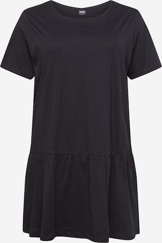 Urban Classics Curvy Φόρεμα 'Valance' σε μαύρο