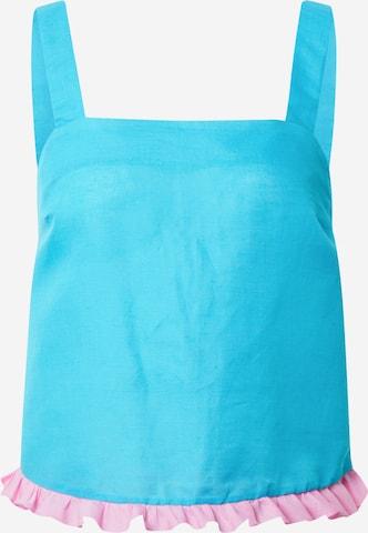 Bluză de noapte 'SIENNA' de la Dora Larsen pe albastru