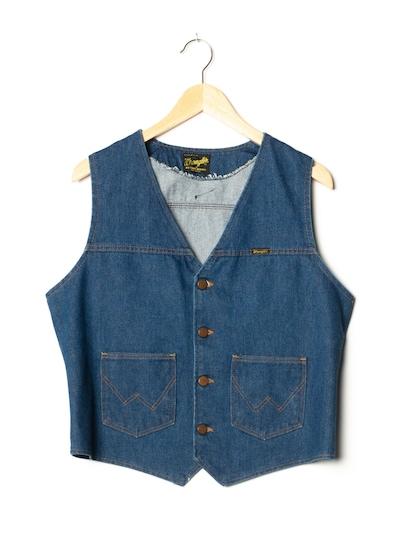 WRANGLER Jeansweste in M in blue denim, Produktansicht