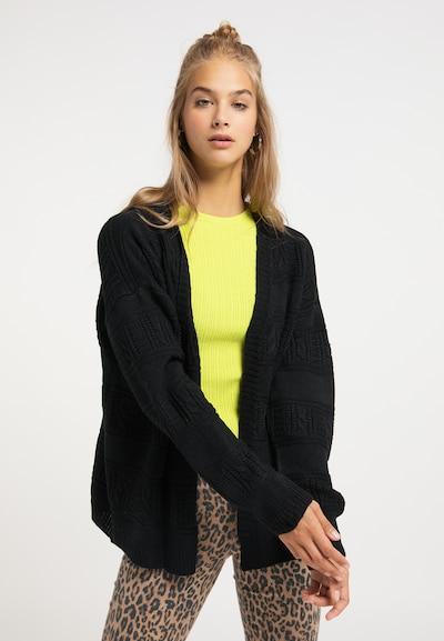 MYMO Cardigan in schwarzmeliert, Modelansicht