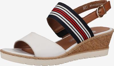 REMONTE Sandale in navy / braun / rot / weiß, Produktansicht