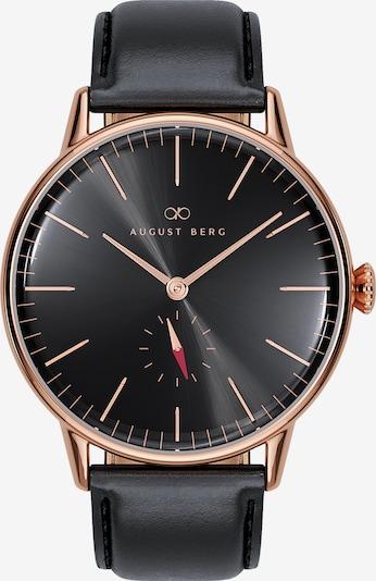 August Berg Uhr 'Serenity Noir Eye Black Leather 40mm' in rosegold / schwarz, Produktansicht