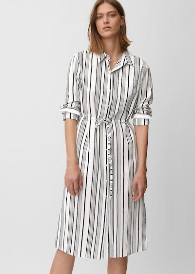 Marc O'Polo Blusenkleid in schwarz / weiß, Modelansicht