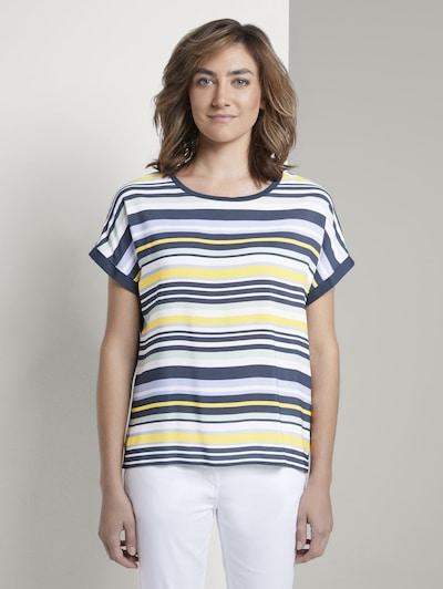 TOM TAILOR T-Shirt in navy / gelb / weiß: Frontalansicht