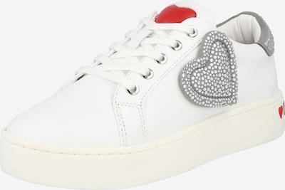 Love Moschino Sneaker in grau / rot / weiß, Produktansicht