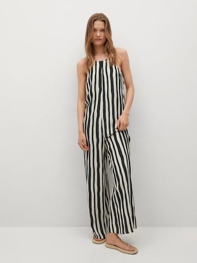 MANGO Jumpsuit 'Corsica' in schwarz / weiß, Modelansicht