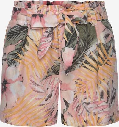 LASCANA Shorts in gelb / grün / rosa, Produktansicht
