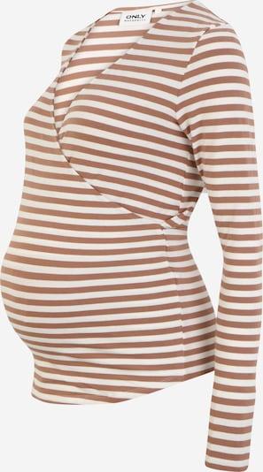 Only Maternity Shirt 'JOY' in braun / weiß, Produktansicht