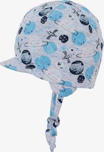 STERNTALER Шапка с периферия в нейви синьо / кралско синьо / светлосиньо / сив меланж, Преглед на продукта
