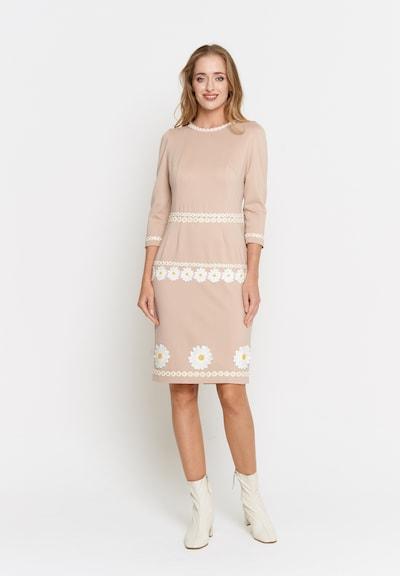 Madam-T Kleid 'Recana' in beige, Modelansicht
