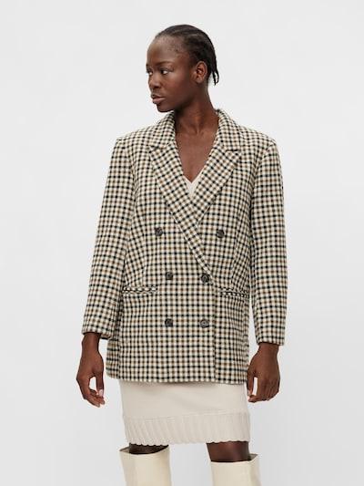 OBJECT Blazer 'Daisy' in Beige / Brown / Green / Black, View model