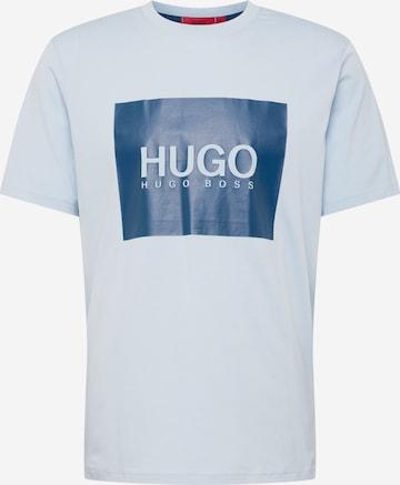 HUGO Тениска 'Dolive' в синьо