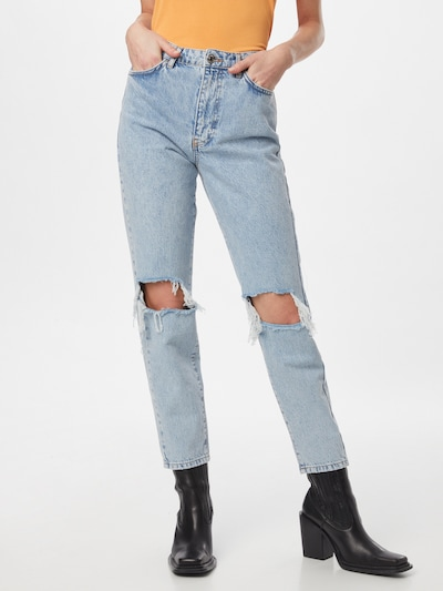 Gina Tricot Jeans 'Dagny' in de kleur Blauw denim, Modelweergave