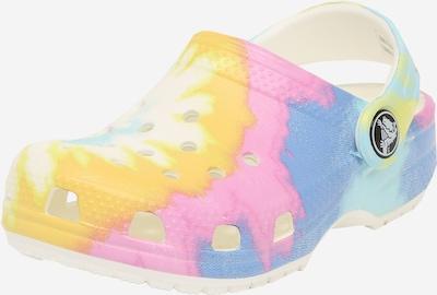 Crocs Clogs in blau / gelb / rosa / weiß, Produktansicht