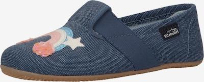 Living Kitzbühel Huisschoenen in de kleur Navy / Lichtblauw / Lichtgeel / Abrikoos / Rosa, Productweergave