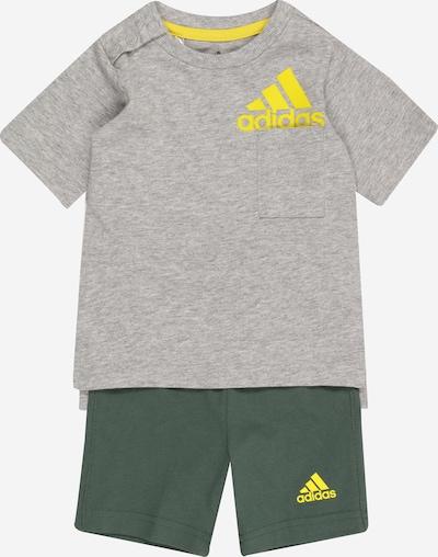 ADIDAS PERFORMANCE Survêtement en jaune clair / gris / vert foncé, Vue avec produit