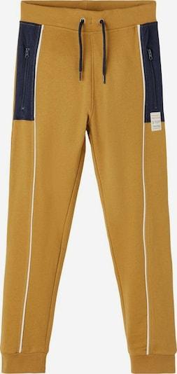 NAME IT Pantalon en bleu foncé / jaune d'or, Vue avec produit