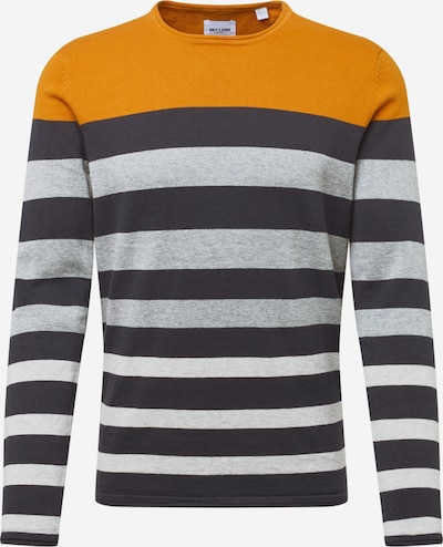 Only & Sons Pullover 'DON' in marine / graumeliert / orange, Produktansicht