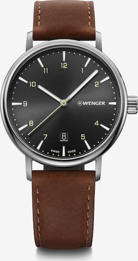 WENGER Analoog horloge in de kleur Bruin / Zilver, Productweergave