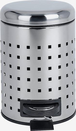 Wenko Kosmetikeimer 'Leman 3l' in schwarz / silber, Produktansicht
