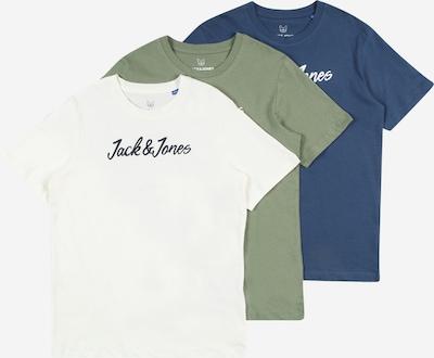 Jack & Jones Junior T-Shirt 'WINKS' en bleu / olive / noir / blanc, Vue avec produit