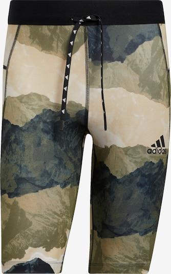ADIDAS PERFORMANCE Sporthose in beige / oliv / schwarz, Produktansicht