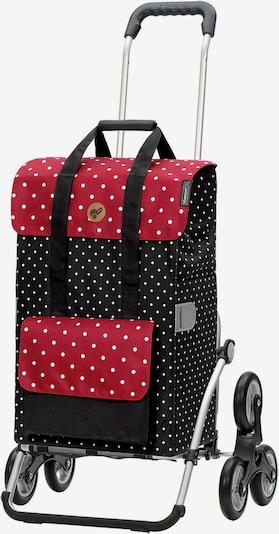 Andersen Shopper Einkaufstrolley in rot / schwarz / weiß, Produktansicht