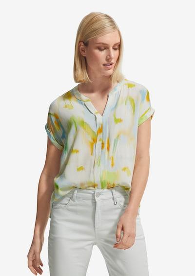 Bluză COMMA pe crem / galben / verde, Vizualizare model