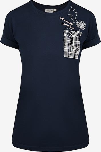 Finn Flare T-Shirt in blau, Produktansicht