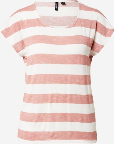VERO MODA T-shirt en rose ancienne / blanc, Vue avec produit