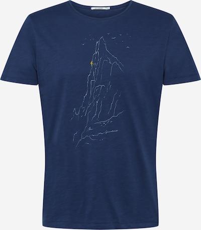 GREENBOMB Shirt 'Nature Lone - Spice' in navy / gelb / weiß, Produktansicht