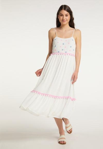 MYMO Kleid in blau / pink / weiß, Modelansicht
