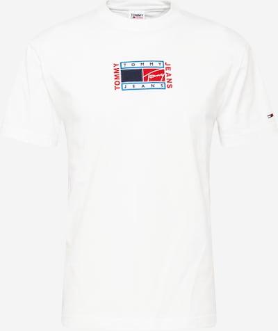 Tommy Jeans T-Shirt en marine / bleu clair / rouge feu / blanc, Vue avec produit