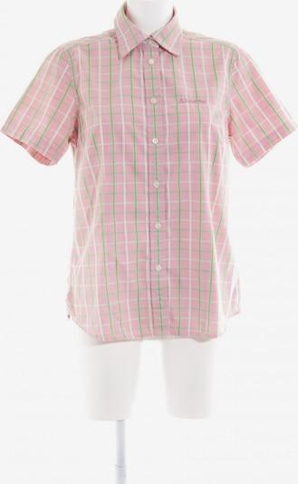 Schöffel Kurzarm-Bluse in M in grasgrün / rosa, Produktansicht