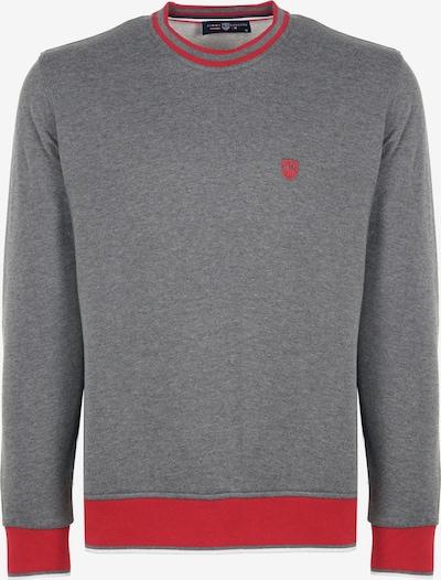 Jimmy Sanders Sweatshirt in anthrazit / rot / weiß, Produktansicht