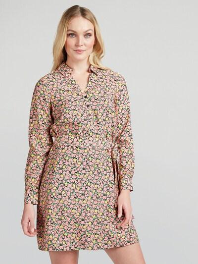 VERO MODA Kleid 'Ellie' in gelb / hellgrün / hellpink / schwarz, Modelansicht