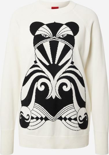 HUGO Pullover 'Shosh' in schwarz / weiß, Produktansicht