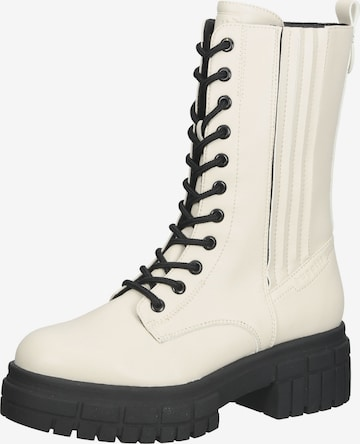 bugatti Lace-Up Ankle Boots in White