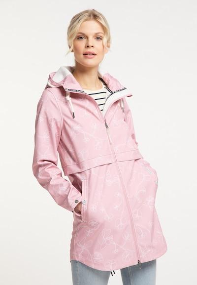 Schmuddelwedda Funktionsmantel in rosa / weiß, Modelansicht