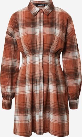 Abito camicia Missguided di colore marrone / rosso ruggine / bianco, Visualizzazione prodotti