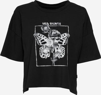 Noisy may T-shirt 'AMY' en noir / blanc, Vue avec produit