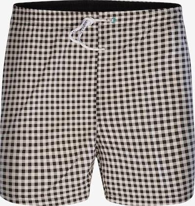 bugatti Zwemshorts 'Andres' in de kleur Zwart / Wit, Productweergave