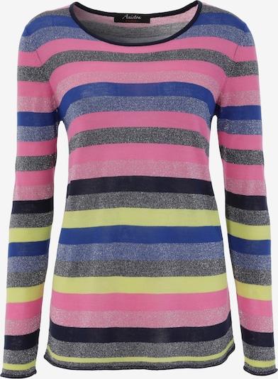 Aniston CASUAL Pullover in blau / gelb / grau / lila / pink / schwarz, Produktansicht