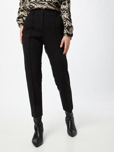 s.Oliver BLACK LABEL Bügelfaltenhose in schwarz, Modelansicht