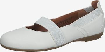 Marc Shoes Ballet Flats with Strap in White