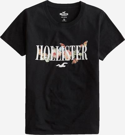HOLLISTER Тениска в синьо / кафяво / черно / бяло, Преглед на продукта