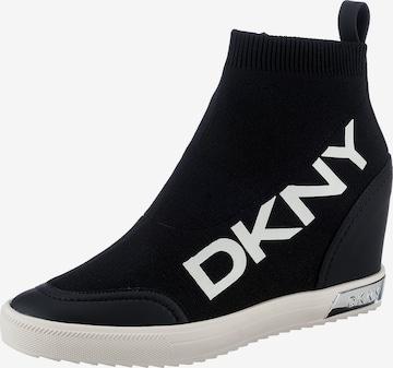 DKNY High-Top Sneakers in Black