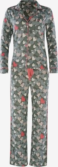 PJ Salvage Pyjama ' Cozy Casual ' en kaki, Vue avec produit