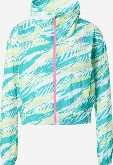 ASICS Sportska jakna u limeta zelena / zelena / bijela, Pregled proizvoda