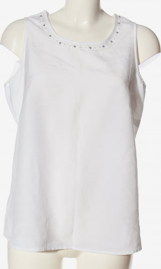 Chicc ärmellose Bluse in L in weiß, Produktansicht